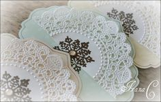 DIY::snowflakes on doilies