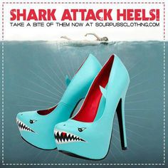 shark heels - these would be fun to DIY