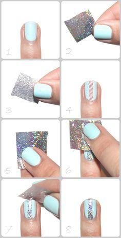 Tutorial: How to use nail foil Foil Nail Art, Foil Nails, Creative Nails, Nail Tutorials, Fun, Beauty, Nail Art Tutorials, Beauty Illustration, Hilarious