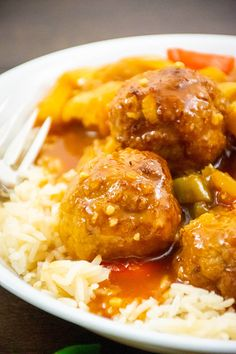 Sweet & Sour Turkey Meatballs | The Starving Chef Blog Roast Beef Roll Ups, Chef Blog, French Fried Onions, Milk And Eggs, Turkey Meatballs, Chef Recipes, Recipe Today, Original Recipe, Food Videos