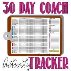 COACH Tip: 30 Day Activity Tracker ~ To Insanity & Back