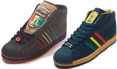 "Adidas kingston and Tuff Gong Pro Models from the ""Sounds of the city"" pack"