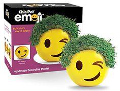 Chia Emoji Winky Handmade Decorative Planter, Yellow Chia http://www.amazon.com/dp/B017R0QXVU/ref=cm_sw_r_pi_dp_lKHFwb0W8DP4B