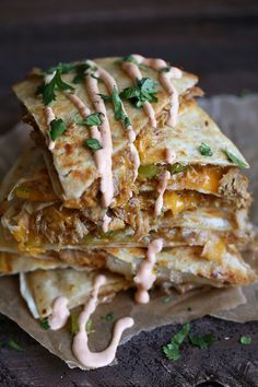 pulled pork quesadilla. This girl knows what she's doing.