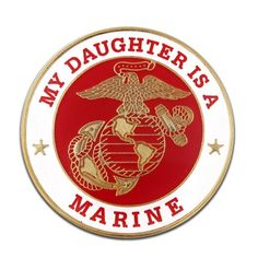 PinMartu0027s My Daughter Is A US Marine Corps Military Enamel Lapel Pin