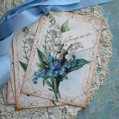 Floral Tags Lily of the Valley Tags Forget Me by CreativeVisions, $6.00