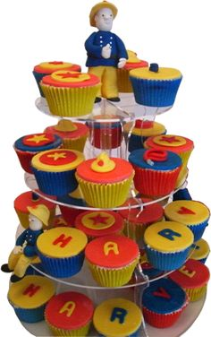 simple Fireman Sam cupcakes