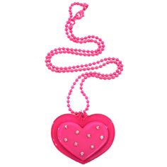 No Tail Diamante Heart Pendant Pink ($5.61) ❤ liked on Polyvore featuring jewelry, necklaces, accessories, pink, colares, pink heart jewelry, heart pendant jewelry, heart-shaped jewelry, heart pendant and heart shaped necklace