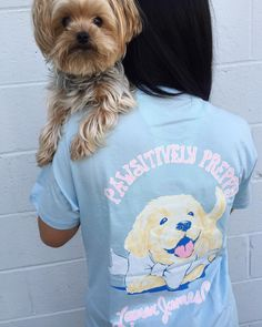 In honor of  National Puppy Day!  We love our big pup Chanel along with the pawfect Lauren James tee! Shop all LJ online now --> {link in bio} #laurenjames #preppy #dogtee #pawfect #shopPD