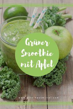 Grüner Smoothie mit Apfel und Grünkohl