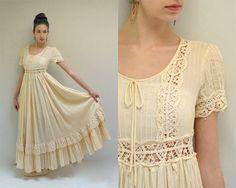 70s Wedding Dress  //  Bohemian Wedding by VintageUrbanRenewal, $174.00