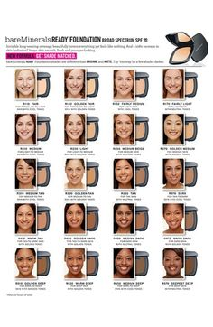 Bare minerals ready foundation color chart wearables pinterest