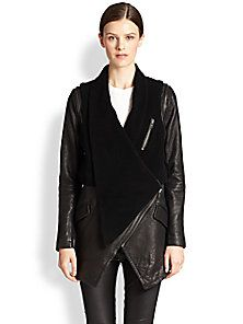 Yigal Azrouel - Convertible Shearling & Leather Jacket