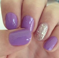 Lilac and silver nails.....