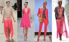 Todos os tons de rosa: cor é aposta forte da próxima estação