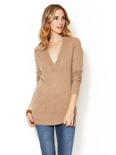 Cashmere V-Neck Tunic by Barrow & Grove at Gilt