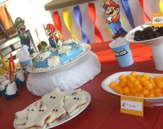 Mario Birthday Party Complete With Mario Themed Food And Games ...for the boys