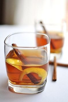 Hot Toddy - whiskey, honey, lemon, water, cinnamon= Irish cure all when sick!And it WORK!! mamaturtle approved