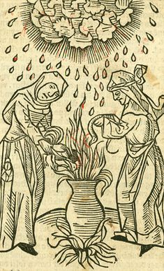 Witches' Sabbath. From: Ulrich Molitor. De Lamiis et Phitonicis Mulieribus, 1493. http://www.wikihow.com/Practice-Witchcraft