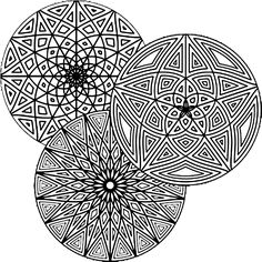 Geometric circle colloring pages