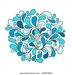 Floral abstract seamless pattern for your design