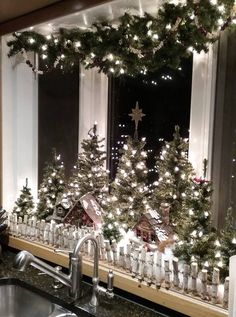 my kitchen window - Christmas Window Sill Decorations Ideas