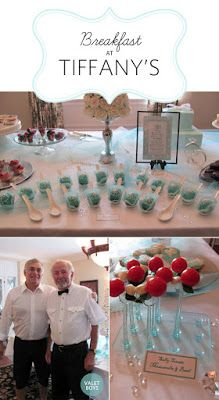 Breakfast at Tiffany themed party food, bridal shower ,cupcakes