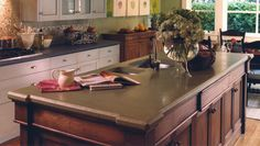 Concrete Countertops | Kitchen Countertops from Sonoma Cast Stone.  This is beautiful!  I would want to know more about durability though before I dropped a whole lot of money on these counters....