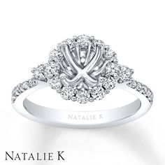 Jared - Natalie K Ring Setting 5/8 ct tw Diamonds 14K White Gold