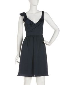 Surplice Satin Dress by Marc New York by Andrew Marc at Last Call by Neiman Marcus.