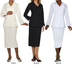 d71ebbe7 Shop for Divine Apparel Women's Plus Size Classic Fashion Skirt Suit. Get free  delivery at Overstock - Your Online Women's Clothing Destination!
