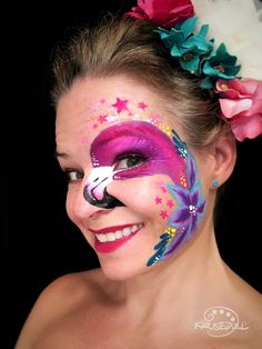 Flamingo Face Paint