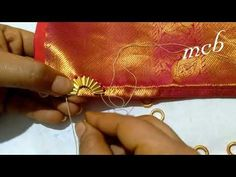 MCB& Saree kuchu design with new method - You.:separator:MCB& Saree kuchu design with new method - You. Saree Kuchu New Designs, Saree Tassels Designs, Cutwork Blouse Designs, Bridal Blouse Designs, Mirror Work Saree, Aari Embroidery, Crochet Flower Tutorial, Designer Blouse Patterns, Lace Design