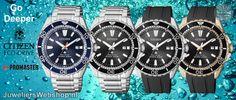 Go Deeper met de nieuwe Citizen Duikhorloges. #citizen #duikhorloges #dive #newarrivals #2017 #juwelierswebshop Citizen, Rolex Watches, Belts, Bracelet Watch, Sea, Accessories, Watch, Ocean, Ornament