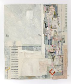 """Drifting Away III"" Jae Maries Calico, oil paint, hand-dyed and commercial fabrics, paper, hand and machine threads; Textile Fiber Art, Textile Artists, Box Art, Art Boxes, Collage Art Mixed Media, Textiles, Paper Art, Creations, Abstract"