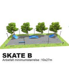 En skatepark hvor de fleste finner utfordringer og uten de høyeste elementene er denne super på en skole. Ønskes en større park kan man supplere med en ramp 140.