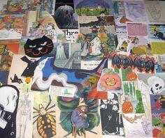 Vintage Halloween Ephemera Pack for Altered Art Lot A on Etsy, $7.95