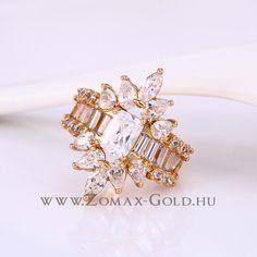 Nikolett gyűrű - Zomax Gold divatékszer www.zomax-gold.hu Stud Earrings, Engagement Rings, Gold, Jewelry, Enagement Rings, Wedding Rings, Jewlery, Jewerly, Stud Earring