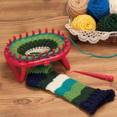 Métier à tricoter ovale sur pied - Clover