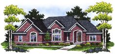 House Plan 73017 | European Traditional Plan with 2306 Sq. Ft., 3 Bedrooms, 3 Bathrooms, 3 Car Garage