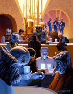 Cantina de mos eisley donde la escoria de la galaxia se junta a chupar - Ralph McQuarrie - Comment by Torby