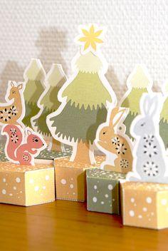 free pritable advent calendar gratuit calendrier de l'avent à imprimer 3 Advent Calendar Boxes, Christmas Calendar, Advent Calenders, Christmas Paper, Christmas Crafts, Countdown Calendar, Christmas Activities, Christmas Printables, Navidad Diy