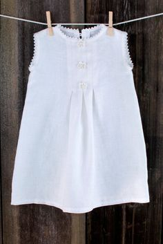 Off-white linen dress... flower girl Would be cute has a shirt with skirt! No white! Solid colored only!