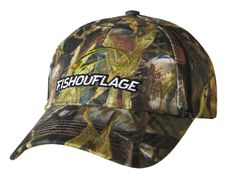 Musky Pattern Full Camo Cap. Constructed from rugged poly twill fabric with anti-microbial treatment for freshness and wicking moisture management keeps the cap cool. Fishouflage logo on the front of the cap.