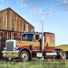 Vintage Peterbilt 359 w/ double sleeper. Peterbilt 359, Peterbilt Trucks, Gmc Trucks, Tow Truck, Big Rig Trucks, Cool Trucks, Small Trucks, Trailers, Heavy Construction Equipment