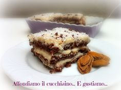 Delizia al cacao con crema di mandorle e cocco