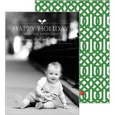 Classic Vertical Photo Card with Imperial Trellis - More Colors