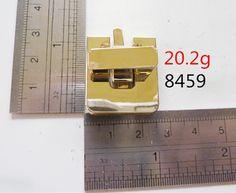 Gold finished turn button latch closure for catch tuck leather purse bag handbag fashion twist locks handbag suitcase purse