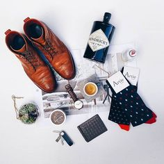 Mr Gumbatron flat lay, featuring two pairs of Artie Socks and a combination of a few other fantastic items.