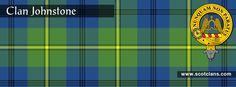 Clan Johnstone Tartan and Crest http://www.scotclans.com/scottish_clans/clan_johnstone/